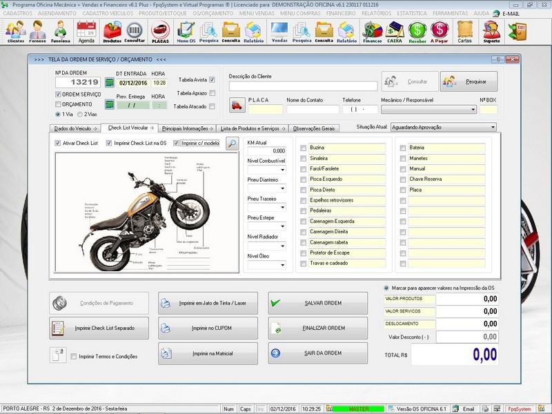 Programa para oficina mec nica moto com ordem de servi o for Programa para disenar oficinas